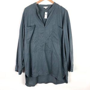 NWT GAP Gray Tencel Tunic Shirt